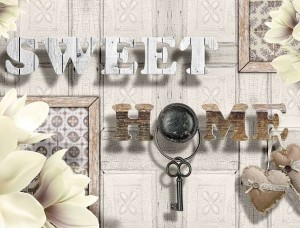 Fototapet cu textul Sweet Home - 3499