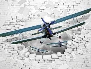 Avioane din al doilea război mondial spărgând peretele - 10407