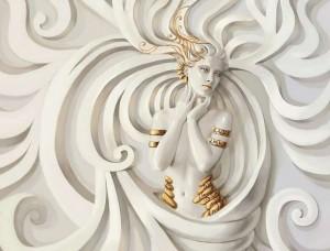 Tapet mural statuetă de zeiţă - 3043