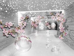 Tapet flori în hol - 3360