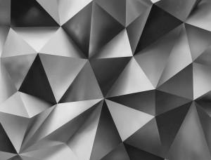 Tapet mural cu forme geometrice de culoare gri - 3477