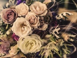 Fototapet fotografie ştearsă cu flori -12578