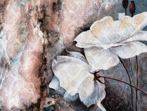 Fototapet de perete cu flori colorate, pictate cu acuarele - 13528