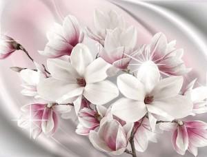 Fototapet cu mare lăptoasă şi flori - 3017
