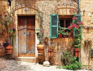 Fototapet cu o terasă colorată mediteraneană - 10388
