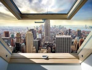 Fototapet vedere din penthouse asupra New Yorkului - 10415