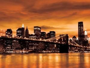Fototapet New York City la apus de soare - 228