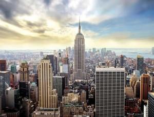 Tapet mural silueta oraşului New York - 2317