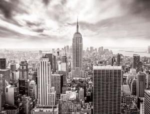 Tapet mural New York City în alb şi negru - 2318