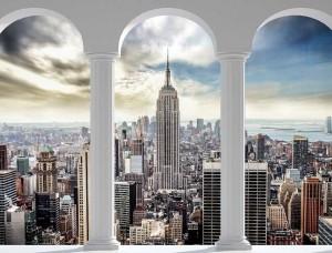 New York 3D, Fototapet pentru camera de zi - 2345
