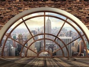 Vedere din New York City - tapet tip fereastră - 2397