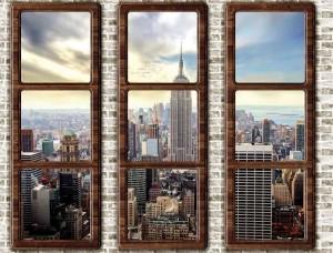 New York, tapet mural tip fereastră - 2832