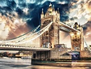Tapet mural podul Londrei noaptea - 846