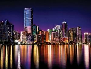 Fototapet oraş luminat în noapte - 855