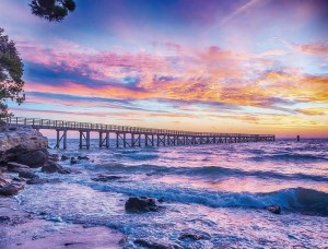 Fototapet apus de soare pe plajă - 10514