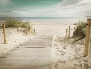 Fototapet cărare spre plaja cu nisip fin - 11597