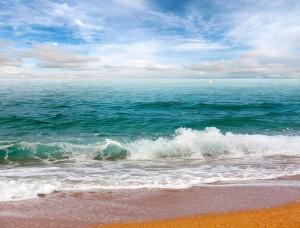Fototapet plajă în culori vii - 13034