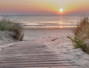 Tapet mural apus de soare pe plajă - 13048