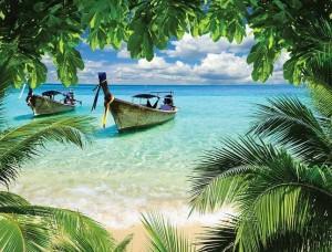 Barcă de pescari pe o plajă tropicală - 225
