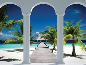 Fototapet alee spre o plajă tropicală - 2360