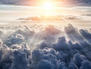 Tapet pentru camera de zi, deasupra norilor - 10109