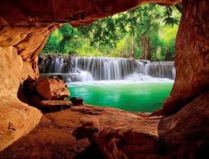 Fototapet superb, râu în pădure - 10258