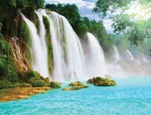 Tapet cu o frumoasă cascadă tropicală - 10386