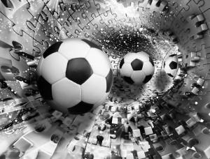 Tapet 3D pentru fanii fotbalului - 3382