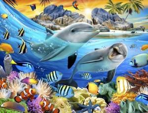 Tapet mural pentru copii viaţa subacvatică - 12850