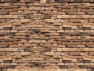 Imitaţie de perete din blocuri de piatră - 1927
