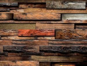 Tapet 3D efect grinzi de lemn - 11916