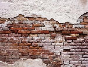 Tapet cu perete crăpat din cărămidă  - 10182