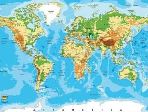 Poster mural cu harta lumii - 10250