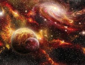 Tapet mural, ciocnirea galaxiilor şi praf de stele - 2734