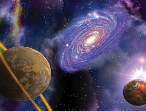 Tapet cosmic, galaxii şi planete - 309